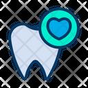 Dental Health Teeth Love Icon