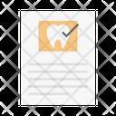 Dental Report Icon