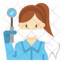 Dentist Doctor Woman Icon