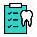 Dentist Checkup Dentist Report Tooth Report Icon