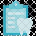 Dentist Report Clipboard Icon