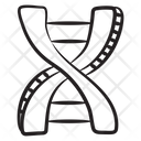 Deoxyribonucleic Acid Genetic Molecule Icon