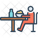 Depending Self Depend Dining Table Icon