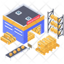 Depository Warehouse Icon