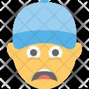 Sad Tired Emoji Icon