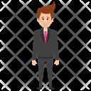 Depressed Businessman Work Icon