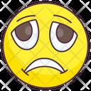 Depressed Emoji Sad Expression Emotag Icon