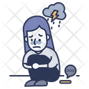 Victim Sad Sadness Icon