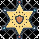 Deputy Sheriff Badge Icon