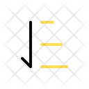Descend Arrow Sign Icon