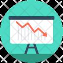 Descending Graph Presentation Icon