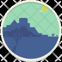 Desert Fort Hot Icon