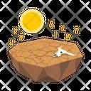 Desert Crack Dry Land Icon