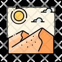 Desert Landscape Travel Icon