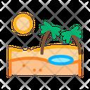 Sandy Landscape Desert Icon