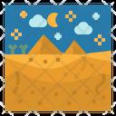 Desert Pyramids Nature Icon