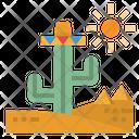 Desert Cactus Sun Icon