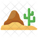 Desert Barren Uncultivated Land Icon
