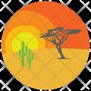 Desert Sunset Sand Icon
