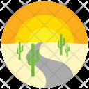 Desert Road Sunset Icon