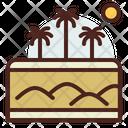 Desert Sand Landscape Icon
