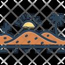 Desert Sand Sandbar Icon