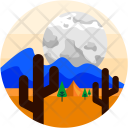 Desert Camping Cactus Icon