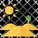 Desert Sun Cactus Icon
