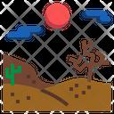Desert Landscape Sun Icon