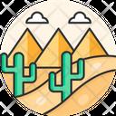 Desert Travel Background Icon