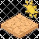 Desert Hot Atmosphere Hot Land Icon