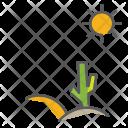 Desert Autum Season Icon