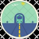 Desert Train Landscape Icon