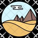 Desert Pyramid Desert Landscape Natural Landscape Icon