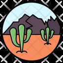 Wild Plant Desert Succulent Cactus Icon