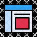 Layout Design Row Icon