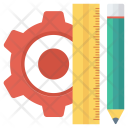 Design Pencil Rule Icon