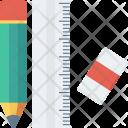 Design Pencil Rule Icon