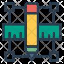 Design Ruler Pencil Icon