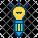 Innovative Idea Creative Design Idea Creative Pencil Icon