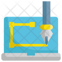 Laptop Application Pencil Icon