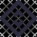 Design Square Diagonal Icon