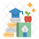 Knowledge Text Graduate Icon