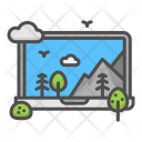 Design Laptop Forest Icon