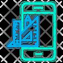 Phone Designing Tools Website Design Icon