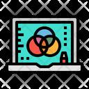 Laptop Graphic Design Icon