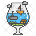 Design Submarine Yacht Icon