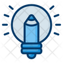 Idea Pencil Creative Thinking Icon