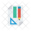 Drawing Ruler Sketch Icon