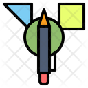 Concept Stationery Pen Icon